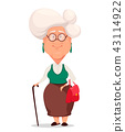 Grandmother wearing eyeglasses 43114922