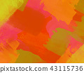 Autumn color art of hand-painted paint 43115736