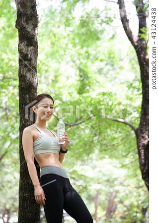 조깅,운동,스포츠,젊은여자 43124438