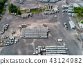 Aerial view of factory for Blocks of concrete stones Building materials industry products for 43124982