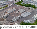 Aerial view of factory for Blocks of concrete stones Building materials industry products for 43125009