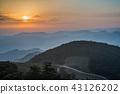 Beautiful Landscape of mountain layer at sunrise. 43126202