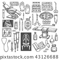 Medical therapy surgery vector sketch equipment 43126688