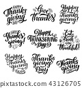 Thanksgiving holiday vector calligraphy lettering 43126705