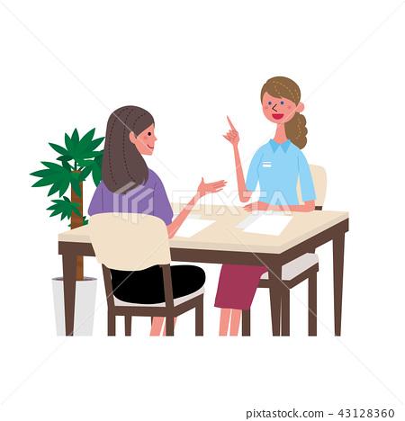 英语会话女性例证谈话与外国人 43128360