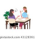 矢量 一個年輕成年女性 女生 43128361