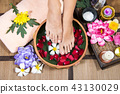 Spa treatment itself and foots is a healing. 43130029