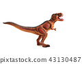 Red small dinosaur on a white background 43130487