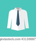White shirt with necktie 43130687