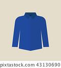 Blue shirt vector illustraton 43130690