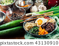 Bibimbap - rice with beef and vegetables 43130910