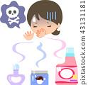 妇女对香水和软化剂感到恶心 43131181