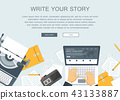 Write your story business banner for journalism 43133887