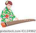 A woman playing the koto 43134962