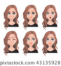 Face expressions of realtor woman 43135928