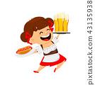 Oktoberfest, beer festival. Funny woman 43135938