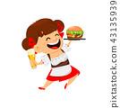 Oktoberfest, beer festival. Funny woman 43135939