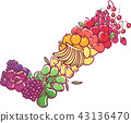 Fruits Rainbow Colors Check Illustration 43136470