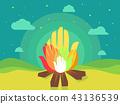 Hands Bonfire Illustration 43136539