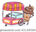 Mascot Ice Cream Vendor Illustration 43136564
