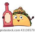 mascot, mexican, food 43136570