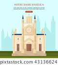 Notre Dame Basilica in Paris 43136624