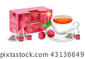 tea drink raspberry 43136649