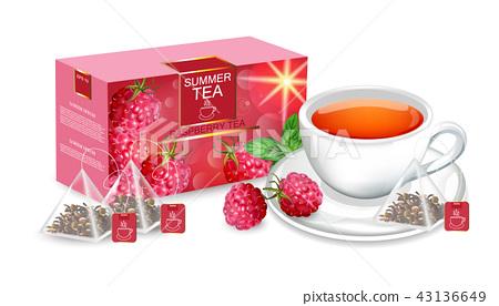 Tea packaging Vector realistic mock up 43136649