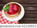 Raspberry cake Vector realistic. Sweet tasty 43136652