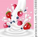3d, milky, blueberry 43136680