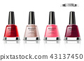 Nail polish set Vector realistic packaging. label 43137450