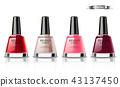 Nail polish set Vector realistic packaging. label 43137450