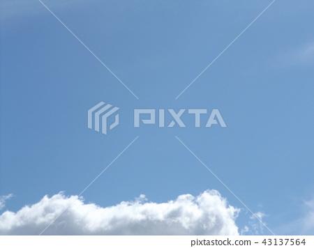 ท้องฟ้าสีครามและเมฆสีขาวด้านบน 43137564