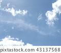 在inage海岸藍天和白色雲彩的上面 43137568