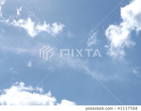 ท้องฟ้าสีครามและเมฆสีขาวด้านบน 43137568