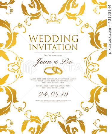Wedding invitation design template (Save the date  43138144