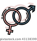 Gender LineColor illustration 43138399