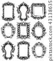 Baroque Mirror frames set collection 43138635