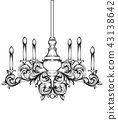 Baroque Classic chandelier. Luxury decor accessory 43138642