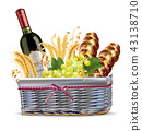 basket, food, wheat 43138710