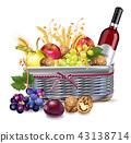 basket fruit apple 43138714