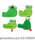 alligator, animal, crocodile 43139004