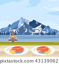 Norway salmon food and mountains 43139062