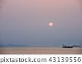 바다, 풍경, 일몰 43139556