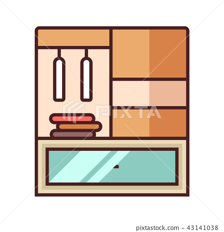 Closet LineColor illustration 43141038