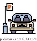 Car park LineColor illustration 43141179