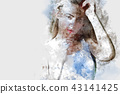 Beautiful women body sexy watercolor painting 43141425