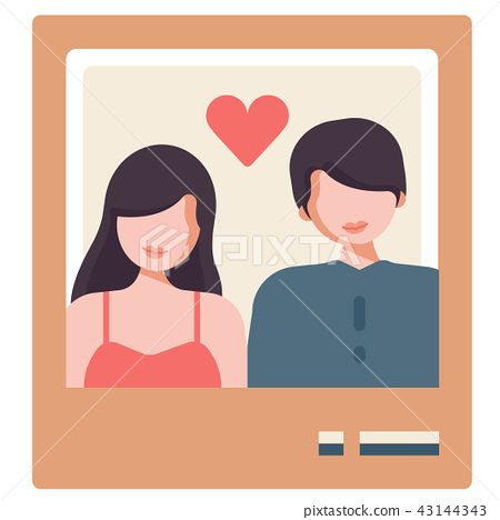 Couple picture flat illustration 43144343