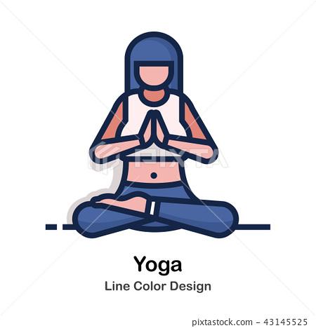 Yoga Line Color  43145525
