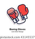 Boxing gloves Line Color  43145537
